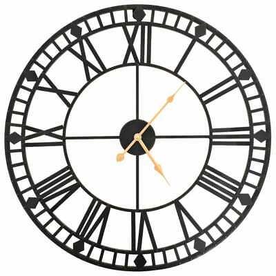 Reloj de pared vintage movimiento cuarzo metal 60 cm XXL