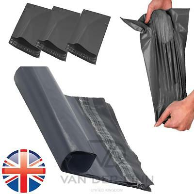 *UK Seller* 50 X STRONG 10 x 14 Mailing Postal Bags Grey Poly