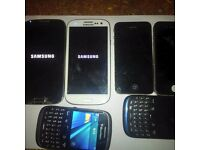 Samsung galaxy s4 s3 iphone 4 blackberry faulty