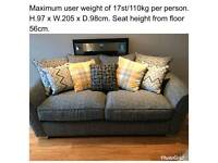 3 seater sofa & chair