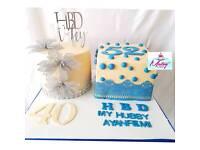 Wedding cakes, birthday cakes, graduation cakes, baby shower cakes etc