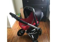 Red Quinny Buzz 3 Complete Travel system