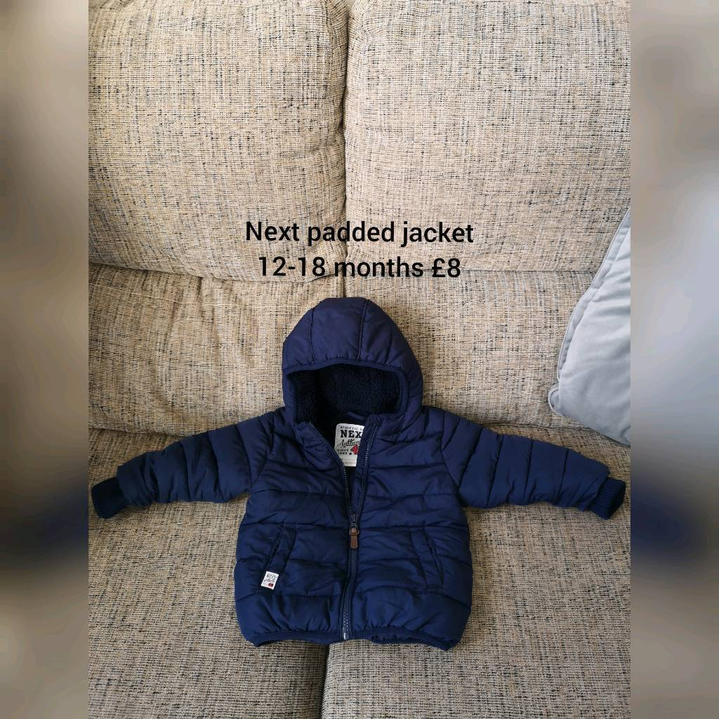 3746a10f91c8 Next padded jacket 12-18 months