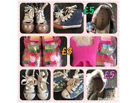 Next Girls Boots & Jelly Shoes Sizes 4, 5 & 6