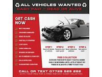 ♻️all vehicles wanted♻️ cars vans 4x4 spares or repairs scrap