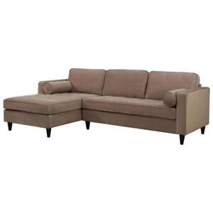 Picket House BORDEAUX Tufted Sofa with Chaise Lounge  Sand (New other) ***READ***