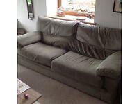 Line Roset 3 seater sofa in sage green Alcantara in decent condition