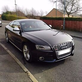 AUDI S5 V8 6 SPEED MANUAL BLACK - RED LEATHER TOP SPEC 400 BHP
