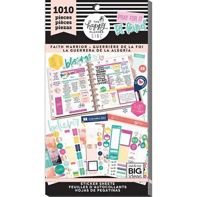 Create 365 The Happy Planner Girl Value Pack Sticker Sheets Faith Warrior 1010