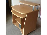 Desk - Multi-Tiered, Pinewood Effect