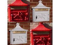 Cast aluminium letter box