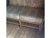 Bamboo 2 Seater Garden or Conservatory Sofa. Perth.