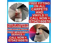CARPETS AND VINYLS !! FREE FITTING ON EVERY CARPET AND VINYL !! BEST PRICES GUARANTEED !!
