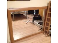 Mirror large wooden frame