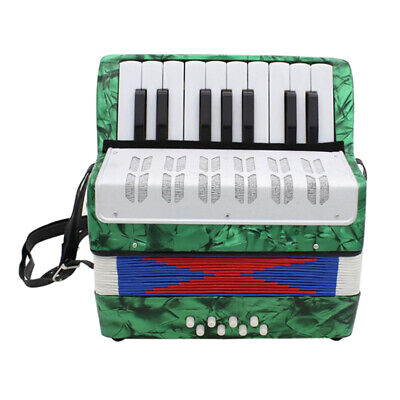 IRIN Piano Accordion Keyboard w/ Strap Gift for Kids Beginner Player Green