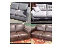 Brand new sofas, 2 grey fabric and brown leather 2&3 seater, message me for details