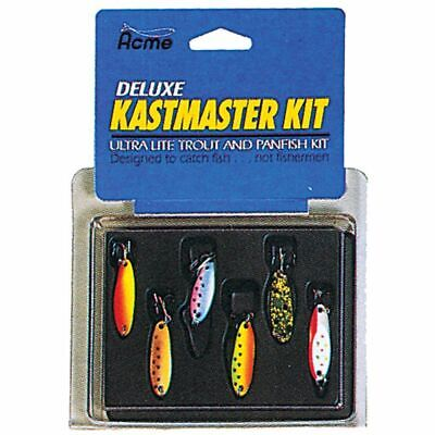 ACME DELUXE KASTMASTER Kit  6 Lures   Ultra Lite Trout & Panfish Kit # 25