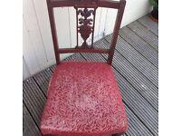 A beautiful Wood low fireside/ nursing chair