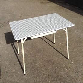 Vintage circa 1960's Melamine Topped Dining Table