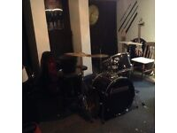 Set of Ludwig drums for sale in good condition.