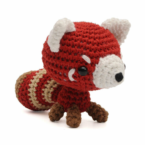 Red Raccoon Handmade Amigurumi Stuffed Toy Knit Crochet Doll VAC
