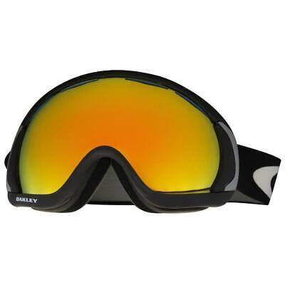 Oakley 57-776 Canopy Matte Black w/ Fire Iridium Lens Mens Snow Ski Goggles .