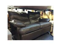Brown Leather 2 Seater Manual Recliner (#44991) £199
