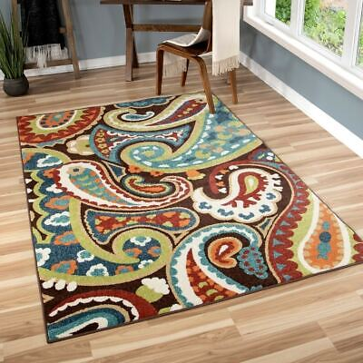 Modern Paisley Rug - Contemporary Modern Paisley Indoor Outdoor Area Rug **FREE SHIPPING**