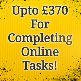 Get Paid Upto £370 Part Time From Home For Completing Online Tasks