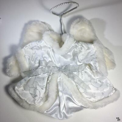 Build a Bear Tagged Girls Clothes White Angel Costume with wings and Halo BABW