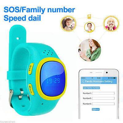 Bluetooth Anti-Past Smart Watch GPS Tracker SOS Help For Android IOS Phone kids