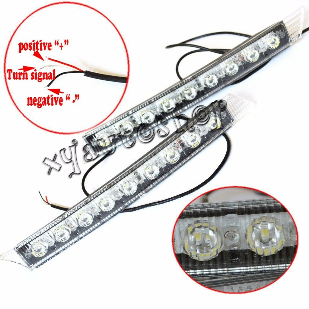 Audi Style 9 LED Daytime Running Light DRL Fog Lamp Day Lights Daylight Kit 12V
