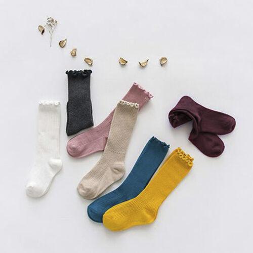Cute Girl Kids Knee High Socks Stocking Cotton Baby Toddler