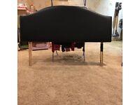 Black king size headboard