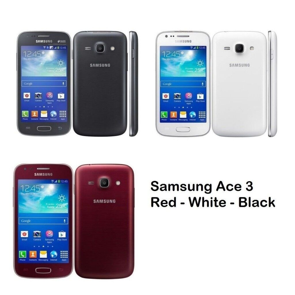 Samsung Galaxy Ace 3 Unlocked Smartphone 4G LTE (White Black Red) GRADED