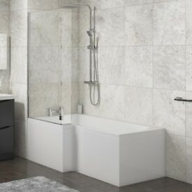 1700 'L' OR 'P' SHAPE BATH,FRONT PANEL & SCREEN