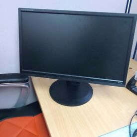 Iiyama 21.5inch Full HD LED Monitor. Adjustable height and screen rotation.