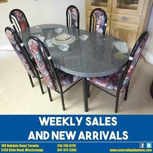 HUGE SALE ON DINNING CHAIRS, TABLES AND SETS!!