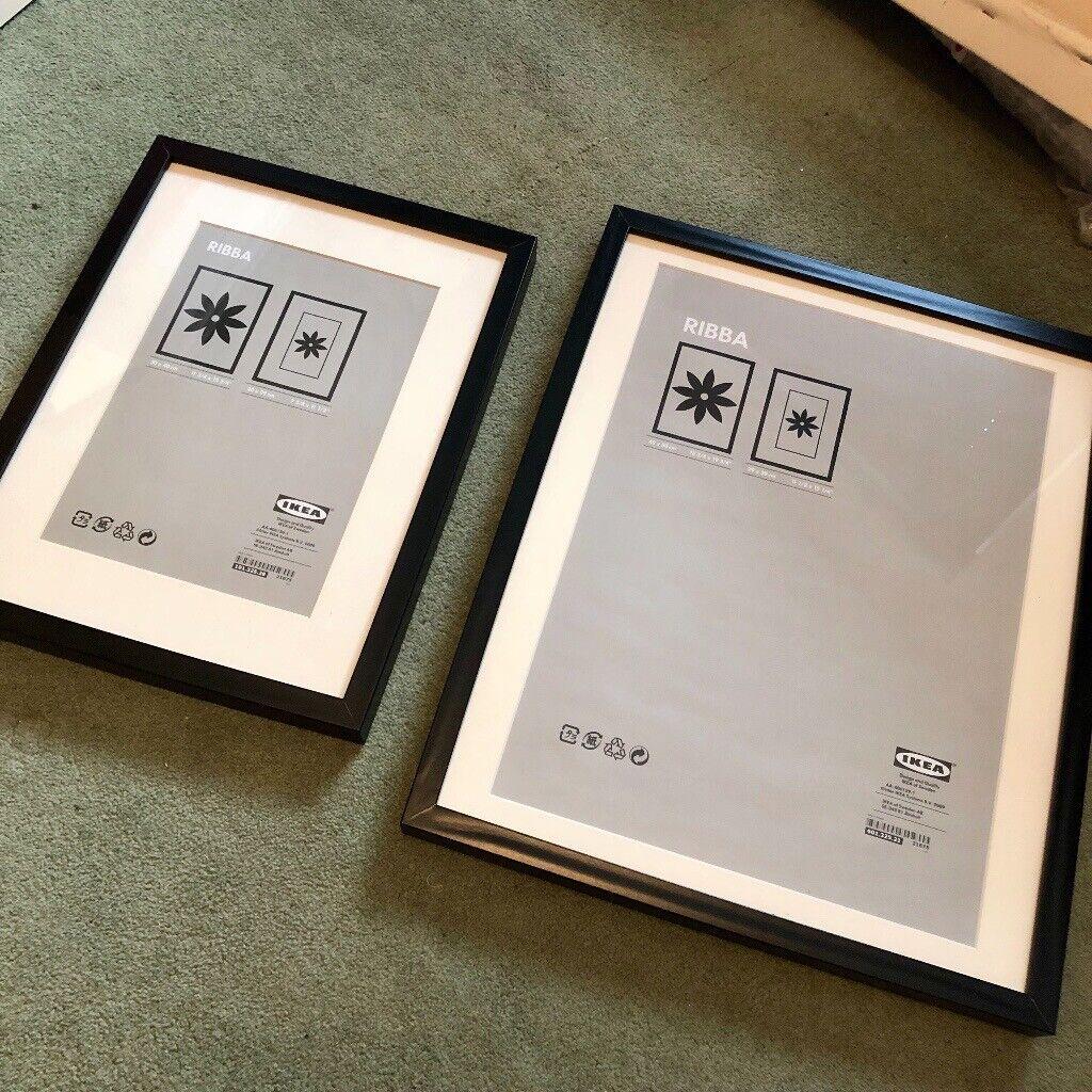 2x IKEA RIBBA Frames - Black - 30x40 and 40x50 cm   in Splott, Cardiff    Gumtree