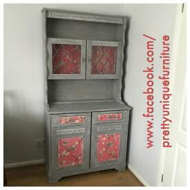 Hand Painted Welsh Dresser Annie Sloan French Linen Distressed Vintage Style