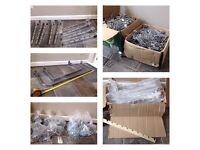 Shop Fittings - Slatwall Acrylic Shelving & Chrome Accessories (Hooks, Rails etc.)