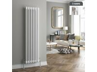 Traditional Cast Iron Style Vertical Radiator White 3 Column 1500x376 BTU 5186