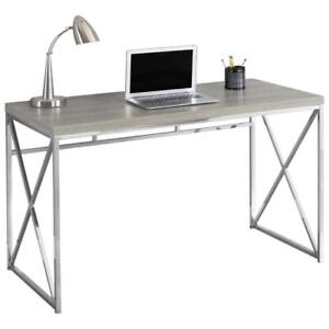 Monarch I 7204 Contemporary Computer Desk - Dark Taupe (New Other)