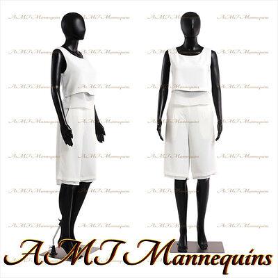 Female Display Mannequin On Sale Durable Black Plastic Manikin-fc-7b