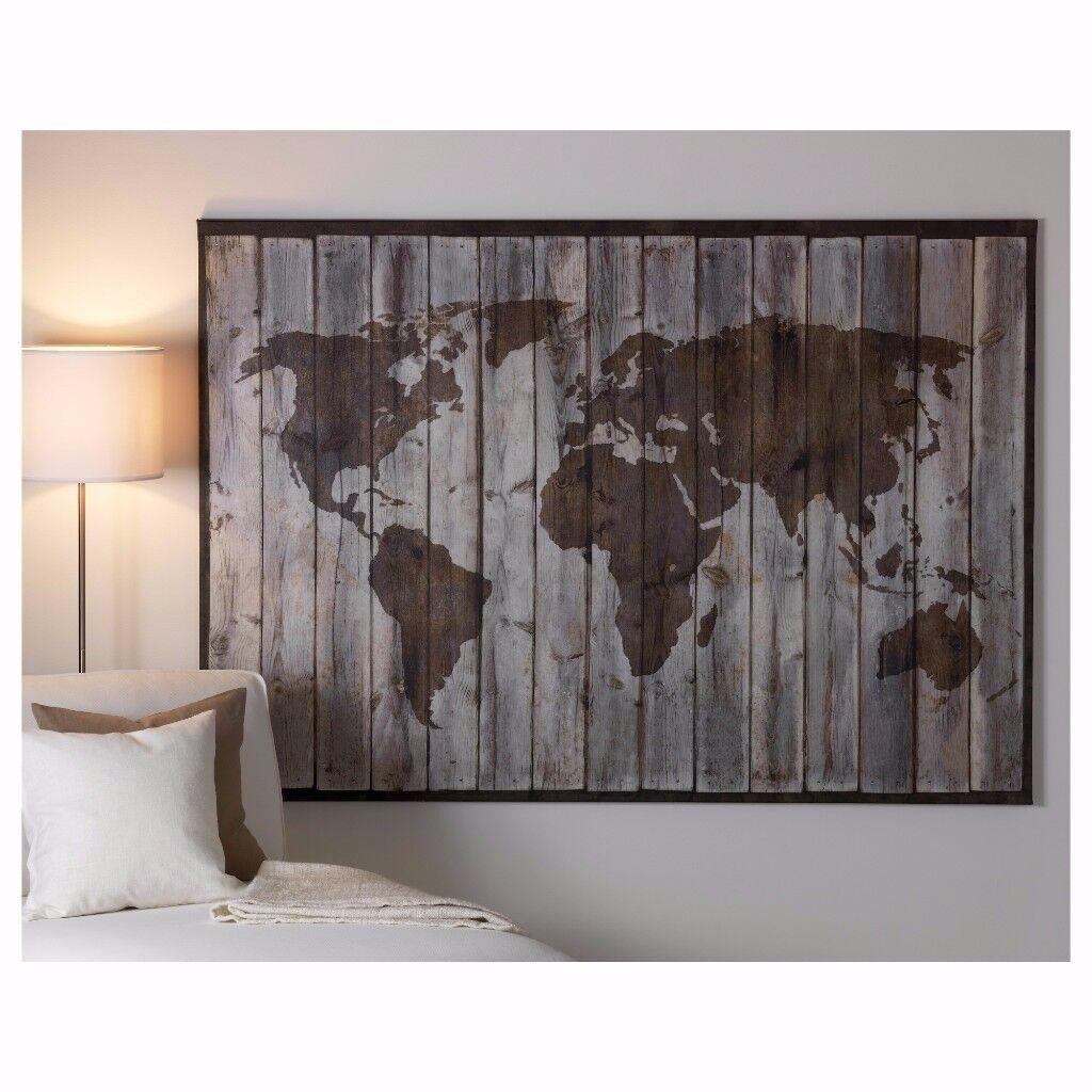Ikea map on canvas