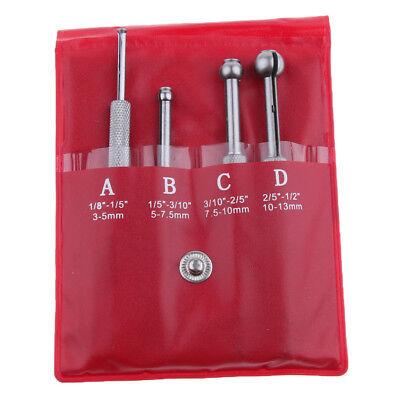 Small Hole Bore Gauge 4pcs Ball Type Telescoping Measure Gauge 18 To 12