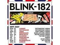 2x Blink 182 standing tickets, O2 Arena London, Wednesday 19th July 2017