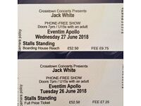 1 x Jack White STALLS STANDING ticket for 26th OR 27th