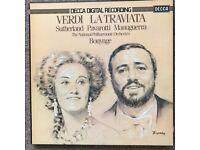 Sutherland, Pavarotti; La Traviata; 3-record box set