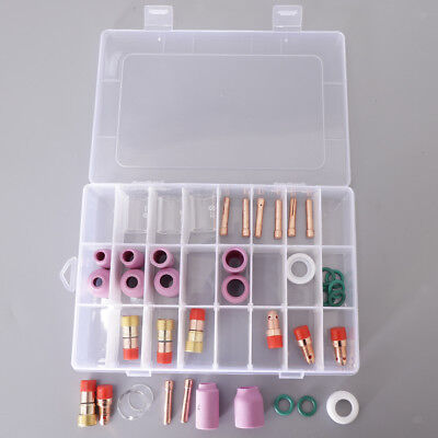 40x Nozzle Lens Collet Body Consumables Kit 10 Pyrex Cup Tig Welding Torch